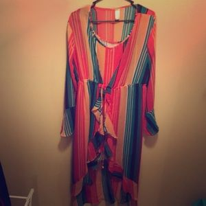 High-Low Maxi Colorful Dress